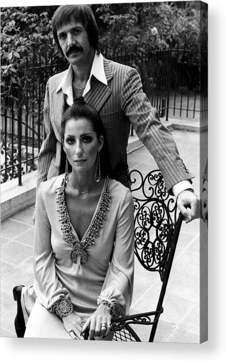 1970s Fashion Acrylic Print featuring the photograph Sonny & Cher, Sonny Top, Cher Bottom by Everett