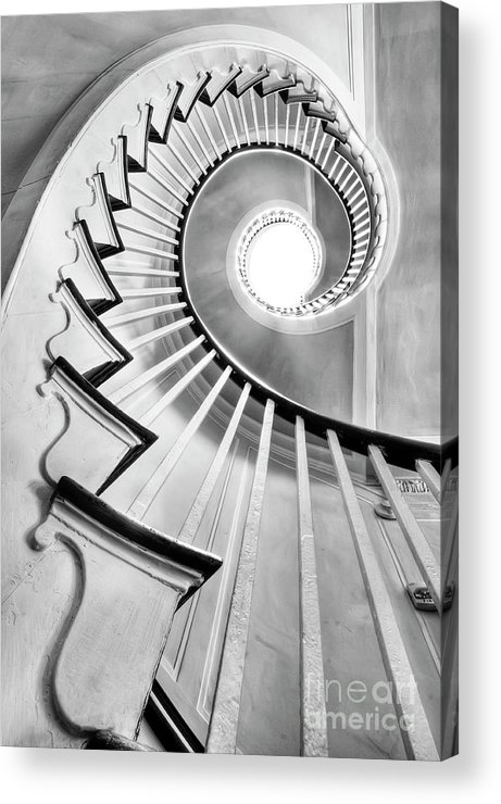 Spiral Staircase Acrylic Print featuring the photograph Spiral Staircase Lowndes Grove by Dustin K Ryan