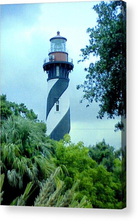 St Augustine Lighthouse Artwork Acrylic Print featuring the photograph St Augustine Lighthouse by Frederic Kohli