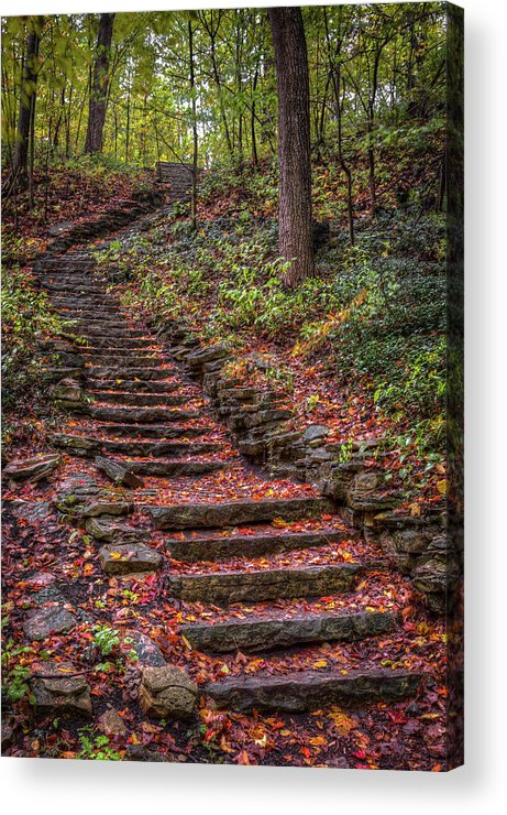 Stairs Acrylic Print featuring the photograph Stairs by Brad Bellisle