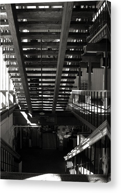 Bw Acrylic Print featuring the photograph Stairways by Joanne Coyle