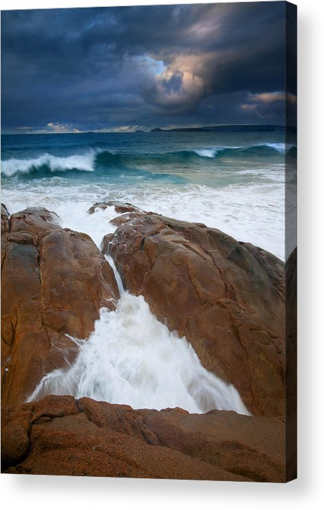Waves Acrylic Print featuring the photograph Surfs Up by Mike Dawson