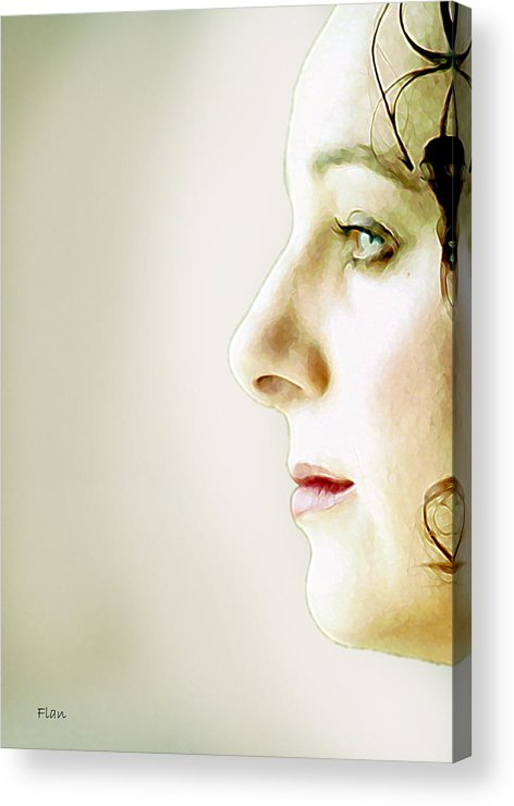 Face Acrylic Print featuring the photograph Tammy 5 by Ruben Flanagan