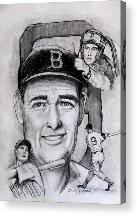 Baseball Acrylic Print featuring the photograph Ted by Jack Skinner