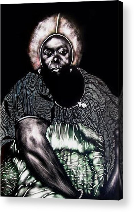 Acrylic Print featuring the mixed media The Adjudecator by Chester Elmore