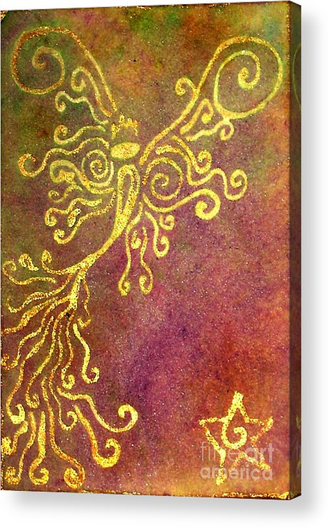 Fairy's Acrylic Print featuring the painting The Fairy Prince by Chandelle Hazen