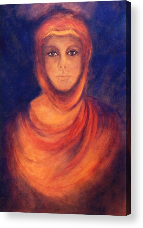 Woman Acrylic Print featuring the painting The Oracle by Marina Petro