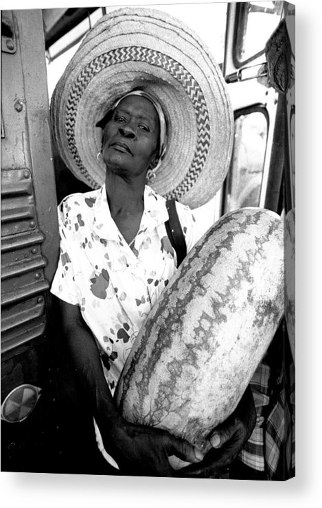Haitian Migrant Acrylic Print featuring the photograph The Winner by Michael L Kimble