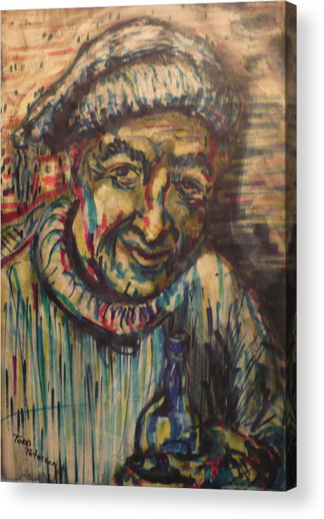 Mixed Media Acrylic Print featuring the painting They Call Me Honest John by Todd Peterson