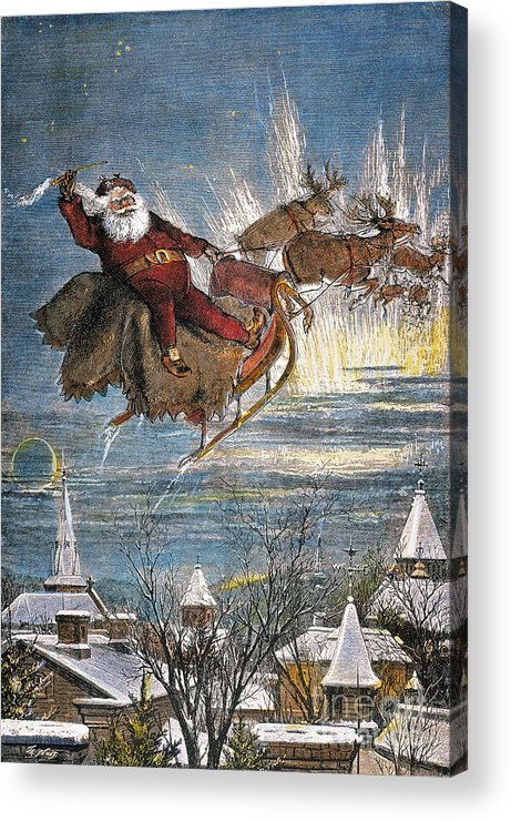 19th Century Acrylic Print featuring the photograph Thomas Nast: Santa Claus by Granger