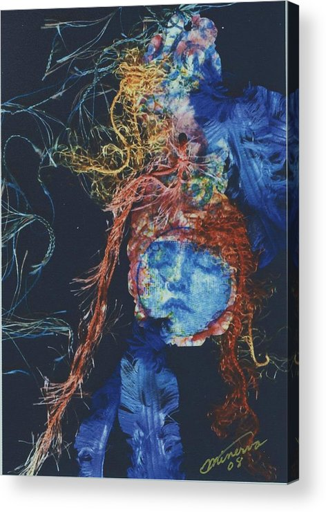 Dream Acrylic Print featuring the mixed media To Sleep Is To Dream by Cathy Minerva