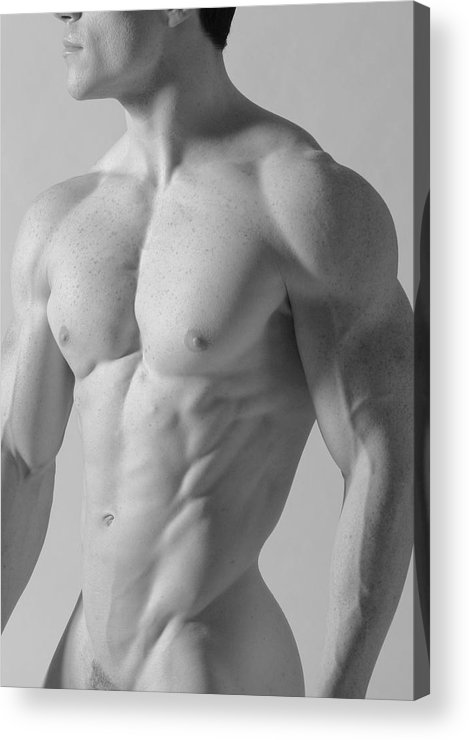 Nude Acrylic Print featuring the photograph Torso C by Dan Nelson