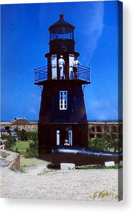 Landscape Photographs Acrylic Print featuring the photograph Tortugas Light by Frederic Kohli