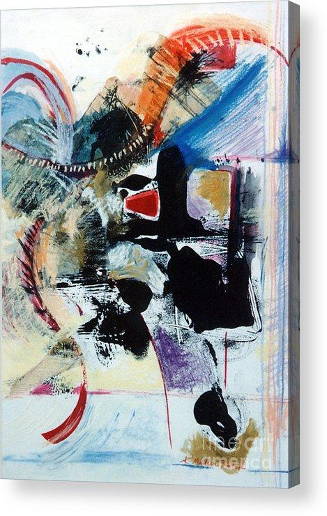 Transcendance Acrylic Print featuring the drawing Transcendance by Kerryn Madsen-Pietsch