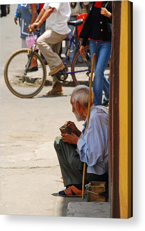 Beggar Acrylic Print featuring the photograph Un Peso Por Favor by Skip Hunt