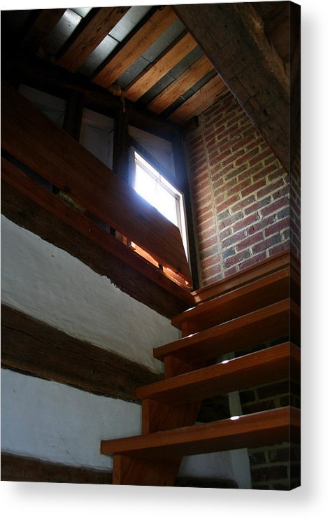 Wooden Steps Acrylic Print featuring the photograph Up To The Attic by Rebecca Smith