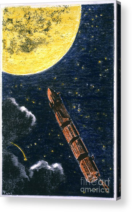 19th Century Acrylic Print featuring the photograph Verne: From Earth To Moon by Granger