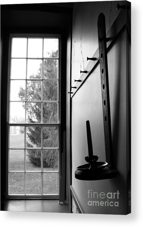Shakertown Acrylic Print featuring the photograph Waiting Candle by Angie Bechanan