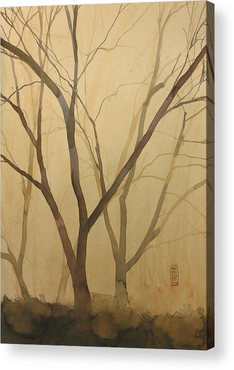 Tree Acrylic Print featuring the painting Waiting For The Spring by Alessandro Andreuccetti