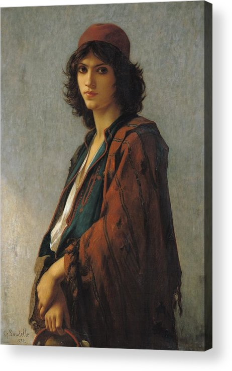 Young Bohemian Serb Acrylic Print featuring the painting Young Bohemian Serb by Charles Landelle
