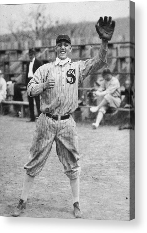 People Acrylic Print featuring the photograph Buck Weaver Is Ready To Catch A Ball by Apa