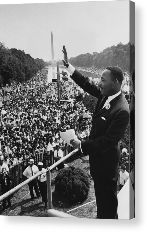 Crowd Acrylic Print featuring the photograph I Have A Dream by Hulton Archive