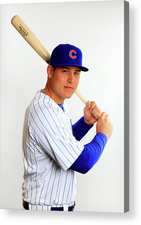 Media Day Acrylic Print featuring the photograph Anthony Rizzo by Jamie Squire