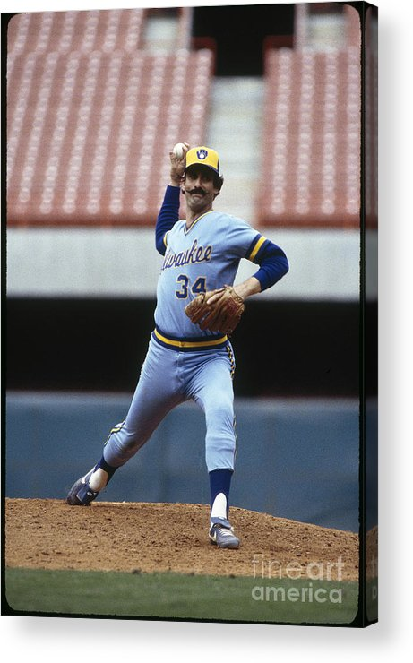1980-1989 Acrylic Print featuring the photograph Rollie Fingers by Rich Pilling