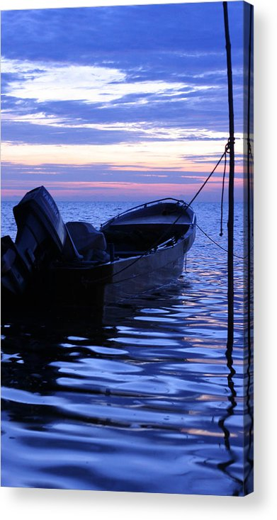 Boat Acrylic Print featuring the photograph A Boat In The Morning by Antti Muranen