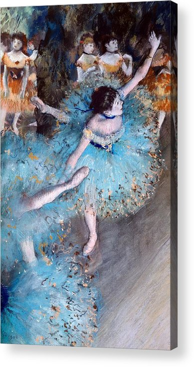 Art Acrylic Print featuring the painting Ballerina On Pointe by Edgar Degas