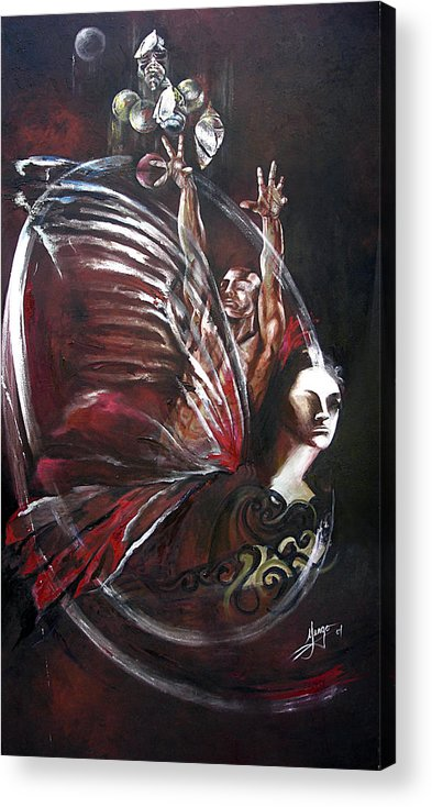 Butterflies Acrylic Print featuring the painting Creation Of Subspecies by Karina Llergo