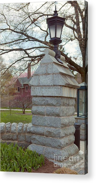 Haverford College Acrylic Print featuring the photograph Haverford College Entrance by Kay Pickens