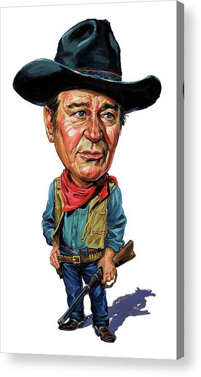 John Wayne Acrylic Print featuring the painting John Wayne by Art