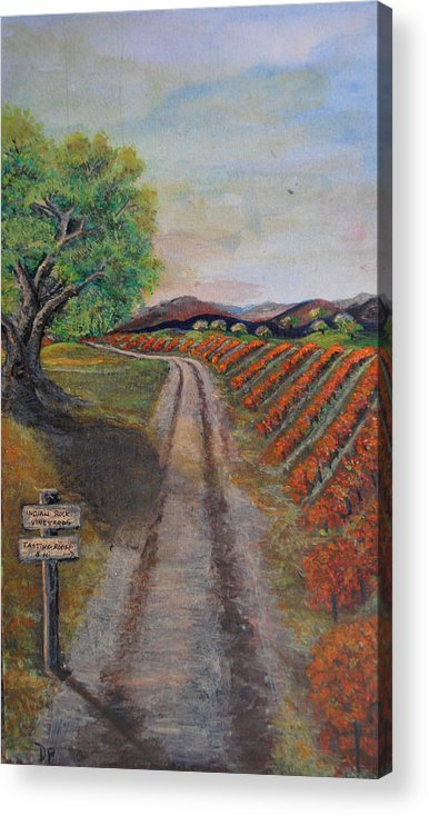 Wine Acrylic Print featuring the painting Tasting Room by Dixie Adams