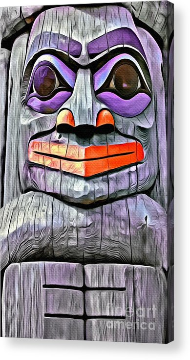 Totem Pole Acrylic Print featuring the photograph V.i. 0043 by Charles Cunningham