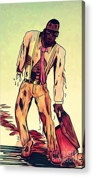 Area 613 Comics Acrylic Print featuring the digital art Zombie Faulty by Justin Moore