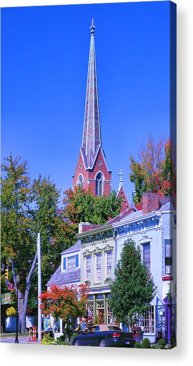 Town Acrylic Print featuring the photograph Downtown Madison II by Steven Ainsworth