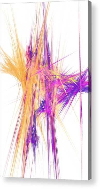 Abstract Acrylic Print featuring the digital art Mikado-o by RochVanh