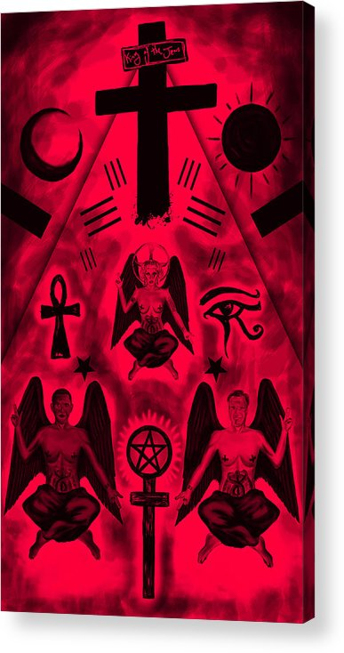 Revelation 666 Acrylic Print featuring the drawing Revelation 666 by Kenal Louis