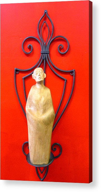 Figure Acrylic Print featuring the sculpture Untitled by Victor Amor
