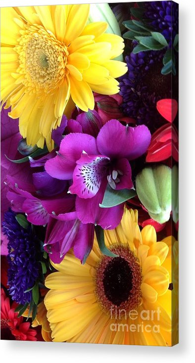 Beautiful Bouquet Acrylic Print featuring the photograph Beautiful Bouquet by By Divine Light