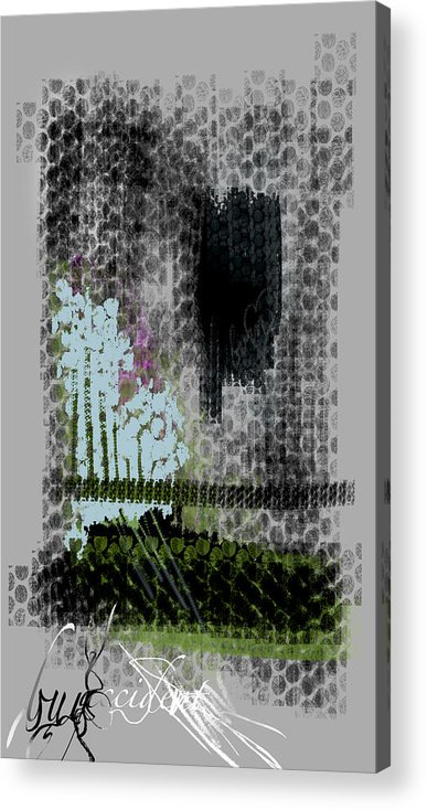 Abstract Acrylic Print featuring the painting Buy Accident by Lindsey Cormier