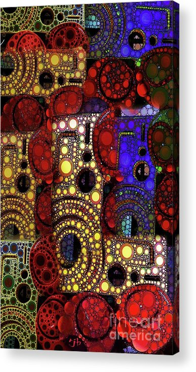 Abstract Acrylic Print featuring the digital art City Lights by Ron Bissett