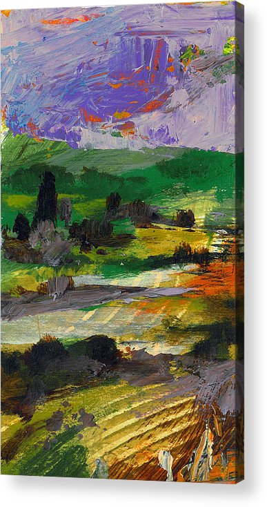 Landscape Acrylic Print featuring the painting Hillside Pastures by Dale Witherow