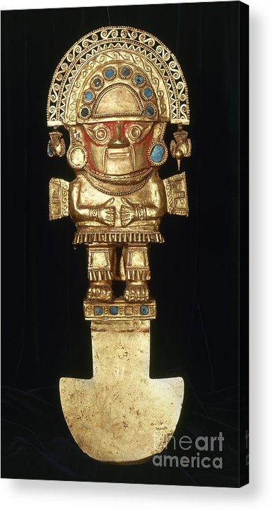 Ancient Acrylic Print featuring the photograph Incan Gold Ornament by Granger