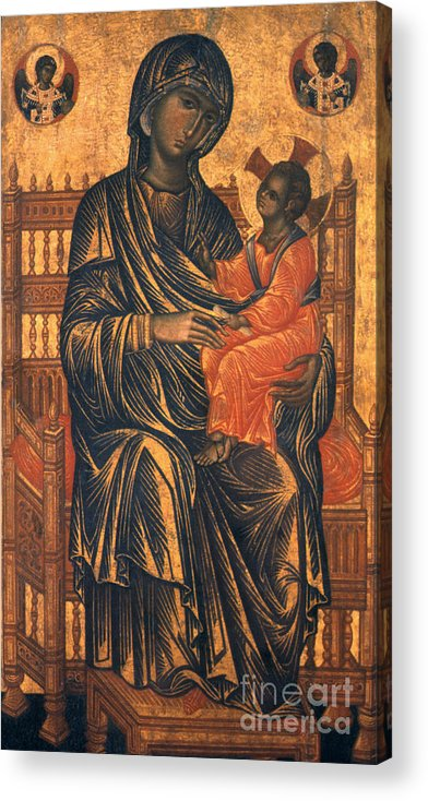 13th Century Acrylic Print featuring the photograph Madonna Icon, 13th Century by Granger