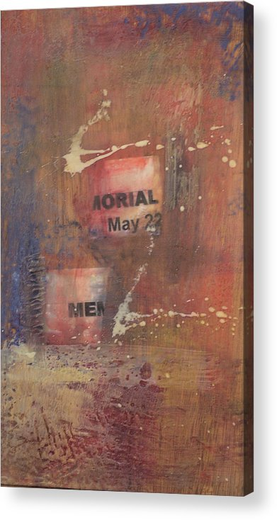 Abstract Acrylic Print featuring the painting Memorial Day 2008 by Kevin Stevens