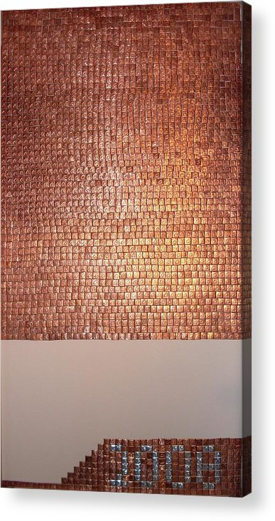 Copper Acrylic Print featuring the mixed media Mers by Grant Van Driest