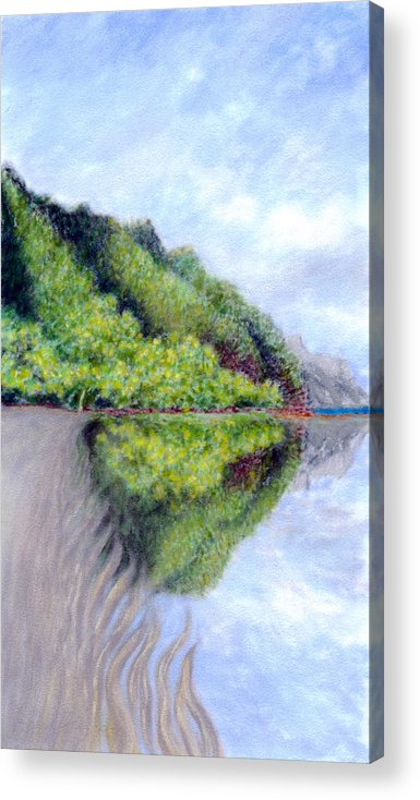 Coastal Decor Acrylic Print featuring the painting Reflection by Kenneth Grzesik