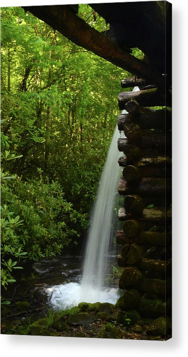 Landscape Acrylic Print featuring the photograph Water From The Flume by Pat Turner